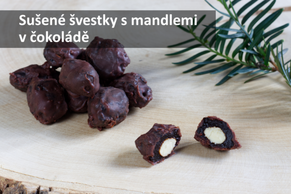 Sušené švestky s mandlemi v čokoládě (Paleo, Raw, Vegan)