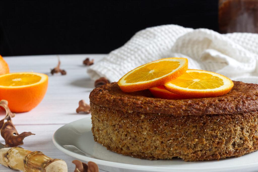 pomerančovo-kokosový dort