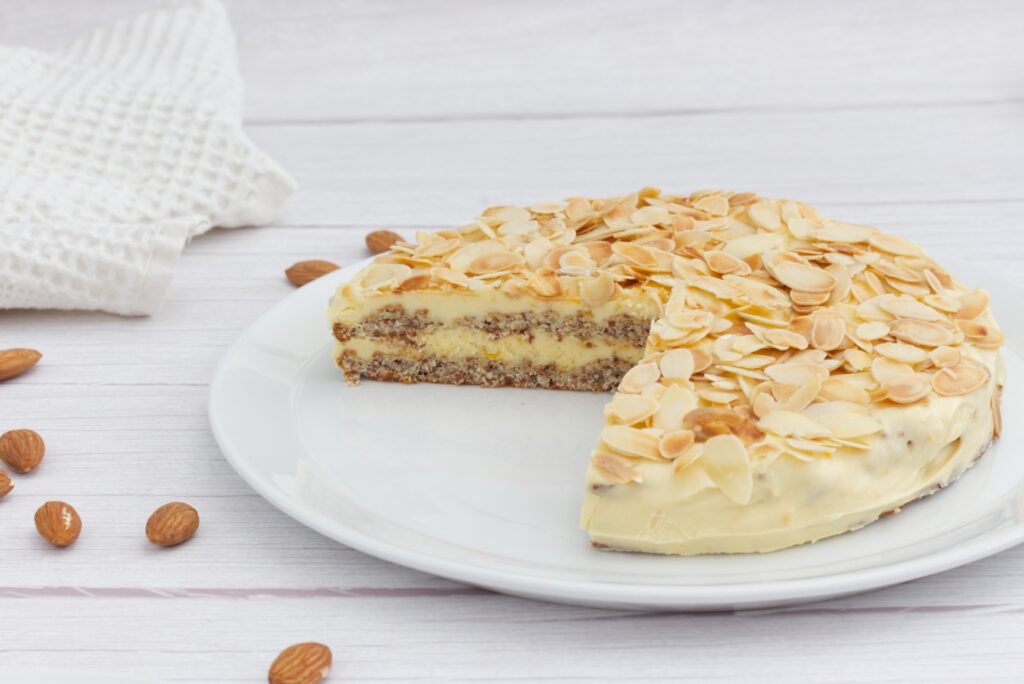 Švédský mandlový dort (bez lepku, bez laktózy, paleo, lowcarb, keto)